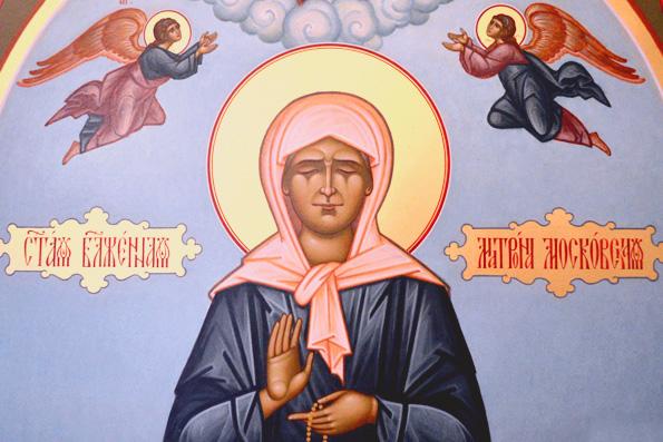В Челнах пребывает икона блаженной Матроны Московской с частицей её мощей