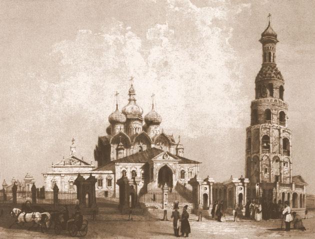 Благовещенский Собор. Литография 1839 г.