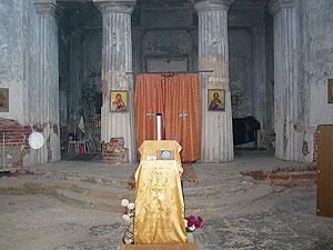 Внтренний вид храма