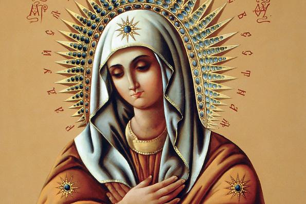 Серафимо-Дивеевская икона Божией Матери «Умиление» (1885 г.)