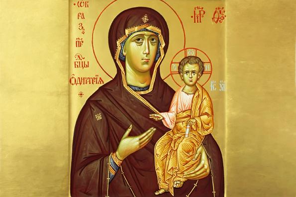Смоленская икона Божией Матери, именуемая «Одигитрия» (1046 г.)