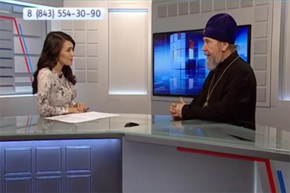 Итоговое интервью митрополита Анастасия на телеканале «Россия 2 – Татарстан»