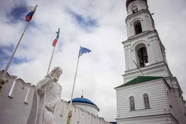 В Раифской обители состоялось освящение памятника преподобному Сергию Радонежскому