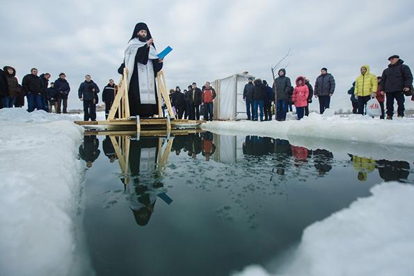 На реке Казанке совершено освящение вод