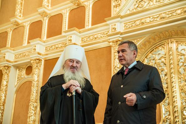 Поздравление президента Республики Татарстан митрополиту Феофану с 15-летием архиерейской хиротонии