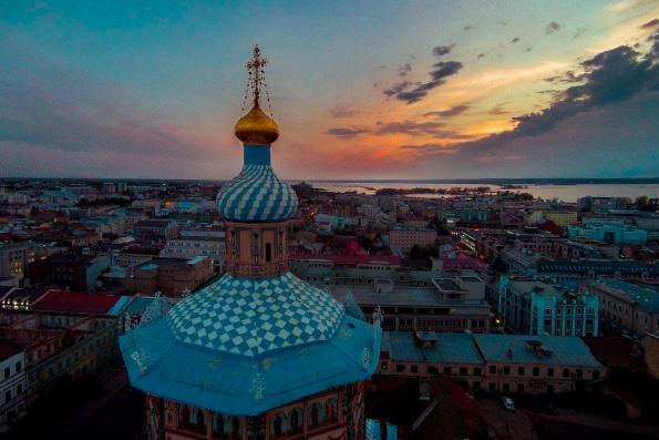 Казанское благочиние Казанской епархии разделено на четыре округа