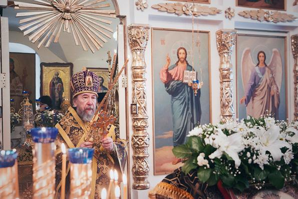 В Иверском храме Новоиерусалимского архиерейского подворья прошли престольные торжества