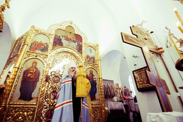 В Неделю пред Богоявлением митрополит Феофан совершил Литургию в Седмиезерной Богородицкой пустыни