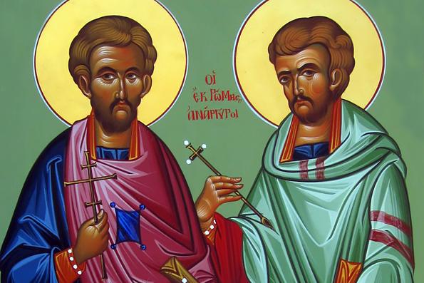Бессребреники и чудотворцы Косма и Дамиан Асийские и матерь их преподобная Феодотия (3 век)