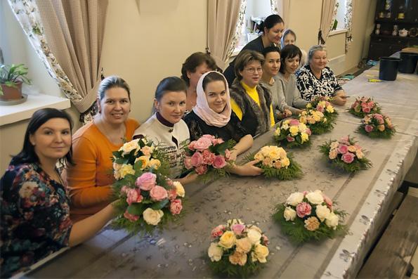 В Духосошественском храме Казани открылись курсы церковной флористики