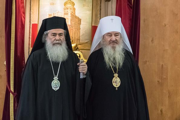 Делегацию паломников из Татарстана принял Предстоятель Иерусалимской Православной Церкви