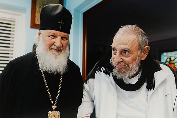 Патриарх Кирилл с Фиделем Кастро обсудили международные отношения