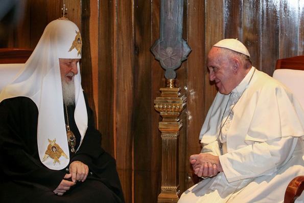 Встреча Патриарха Кирилла и Папы Римского проходит в Гаване за закрытыми дверями