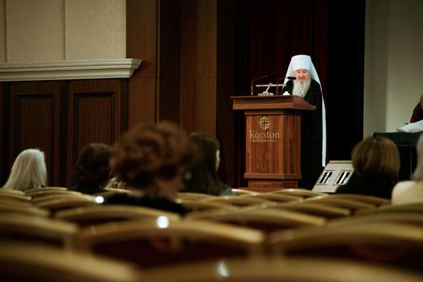 Выступление митрополита Феофана на международном форуме «Руками женщины»