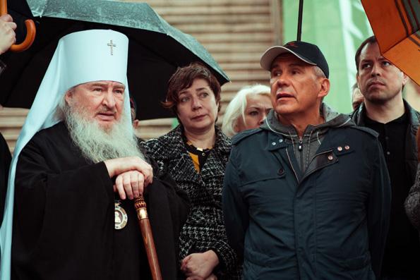 В Петропавловском соборе митрополит Феофан и глава Татарстана обсудили вопросы реставрации православных храмов Казани