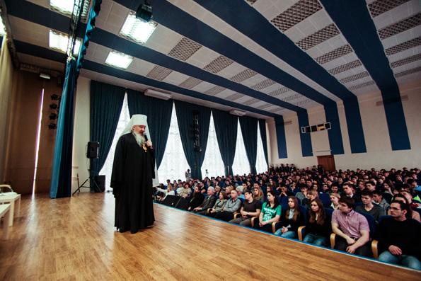 В Казанском архитектурном университете состоялась встреча митрополита Феофана со студентами вуза