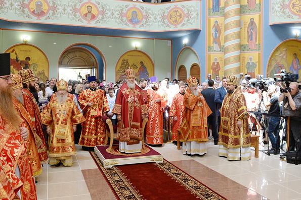 Митрополит Феофан сослужил Патриарху Кириллу в новоосвященном соборе равноапостольной Марии Магдалины города Нальчик