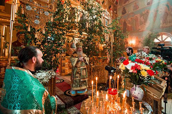 Проповедь митрополита Феофана в день Святой Троицы в Зилантовом монастыре Казани