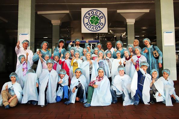Воспитанники православной гимназии посетили с экскурсией молочный комбинат