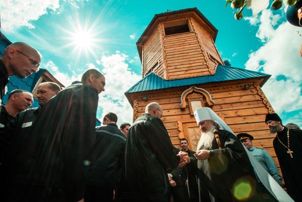 Состоялась встреча митрополита Феофана с осужденными исправительной колонии №5 Республики Татарстан