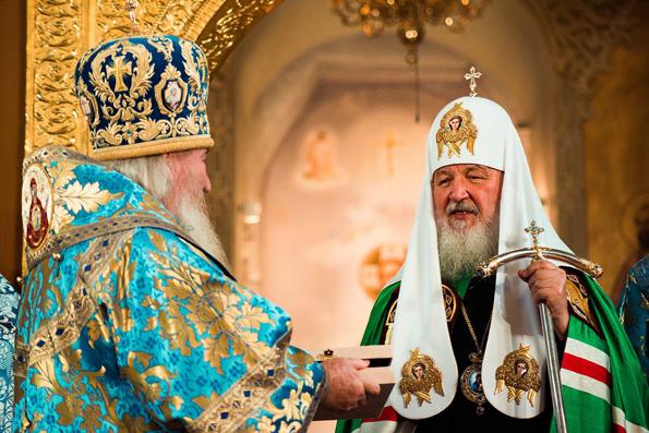 Святейший Патриарх Кирилл выразил благодарность митрополиту Феофану за гостеприимство