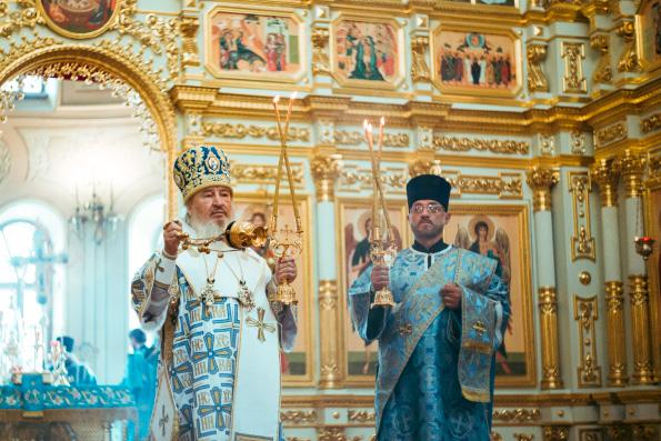 В день Успения Богородицы престольный праздник в Свияжском монастыре возглавил митрополит Феофан