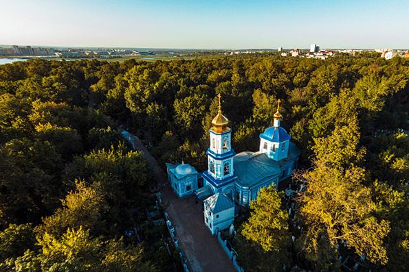 Храм Ярославских Чудотворцев на Арском кладбище, город Казань