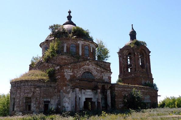 Храм Воздвижения Креста Господня, село Лекарево