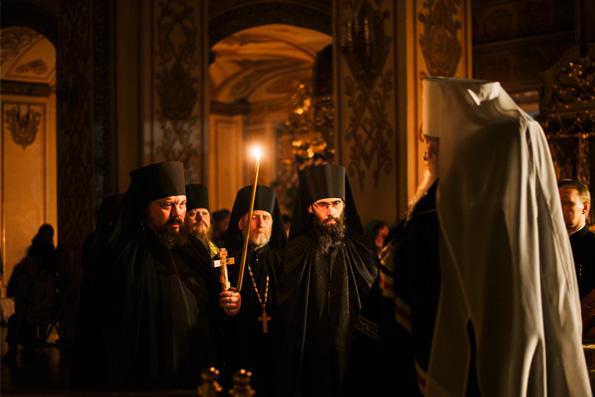 В четверг первой седмицы Великого поста митрополит Феофан совершил чтение канона прп. Андрея Критского в Раифском монастыре