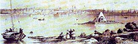 Э.Турнерелли Edward P. Turnerelli Вид всей Казани во время разлива